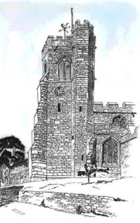 SKETCH - Flitton Church